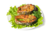 Tasty hunchback salmon fish — Stock Photo