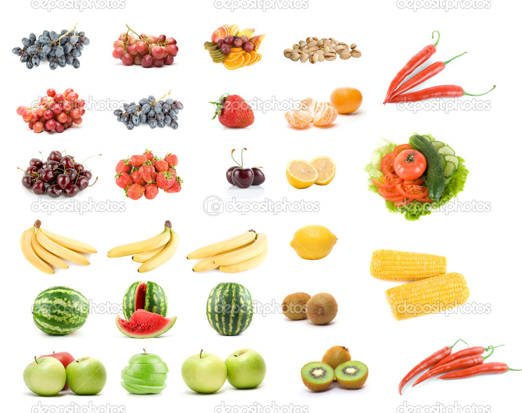 Set bet365 room poker of fruits and vegetables - Stock Image