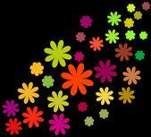 Abstract vector floral set — Vector de stock