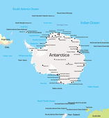 Carte de l'antarctique — Vecteur