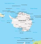 Antarctica Map — Stock Vector