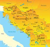 Balkan map — Stock Vector