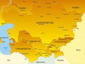 Central Asia — Stock Vector