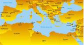 Mediterranean region — Stock Vector