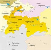 Tajikistan — Stock Vector