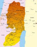 West Bank — Stock Vector