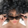 Frizzy woman with sunglasses — Stock Photo #2763722