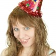 Festive woman — Stock Photo