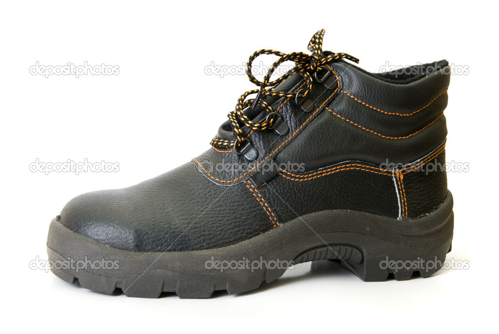 Modern working boots isolated on a white background — Stock Photo #2760235