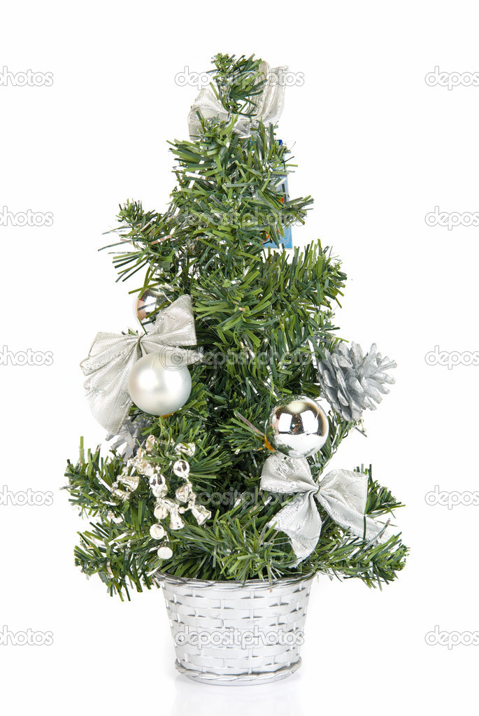 Christmas firtree isolated on a white background — Stock Photo #2765489