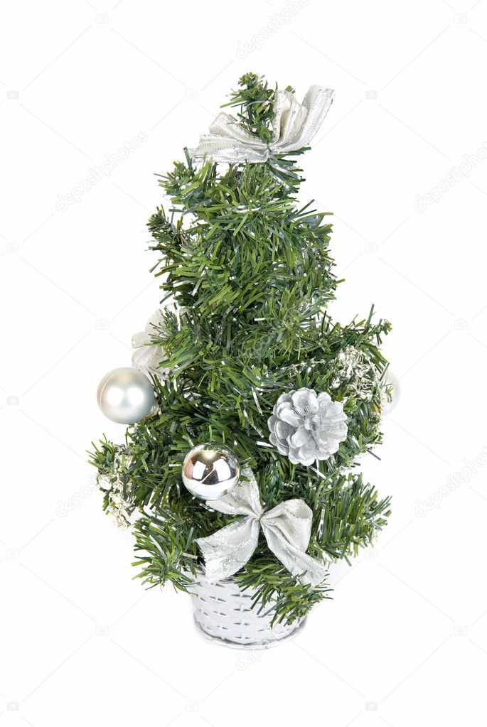 Christmas firtree isolated on a white background — Stock Photo #2765649