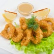 Deep-fried squid dish — Stock Photo