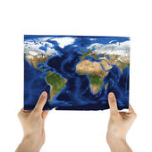 Paper map — Stock Photo