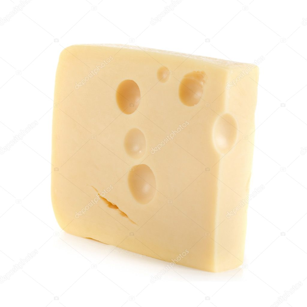 Cheese isolated on a white background  Stock Photo #2988905