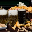 Beer and snacks set — Stock Photo #2990227