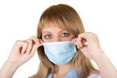 Danger Flu epidemic — Stock Photo