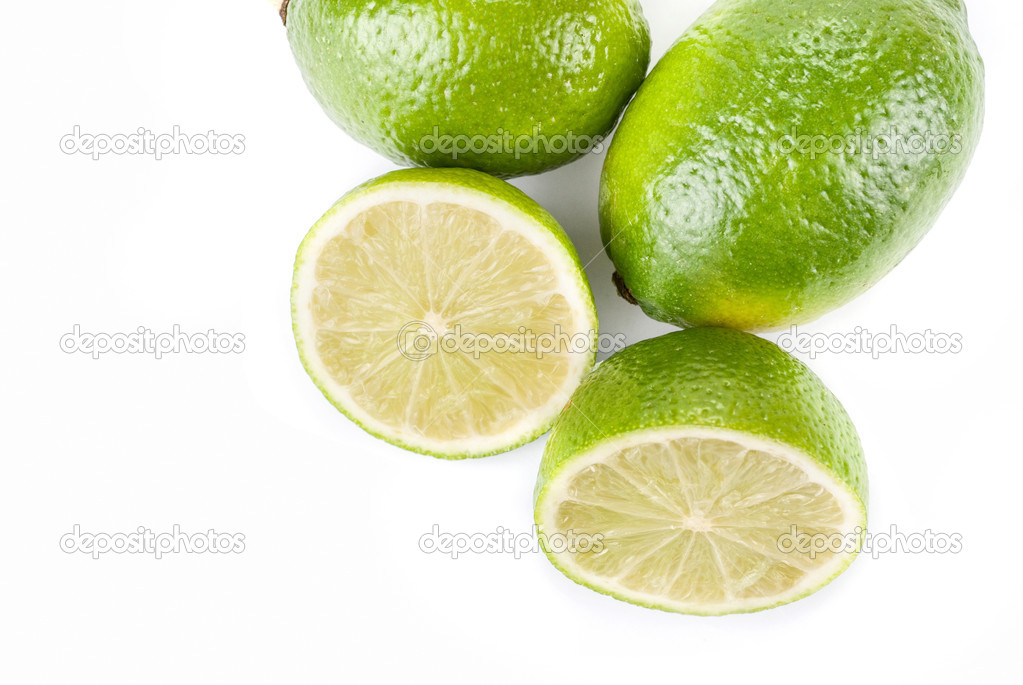 Ripe lime isolated on a white background — Stock Photo #2991163