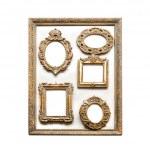 Antique golden frames — Stock Photo