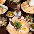 Stock Photo: Many food dishes