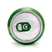 Green aluminum can — Stock Photo