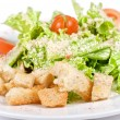 Caesarsalade close-up — Stockfoto