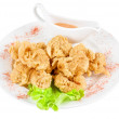 Deep-fried squid — Stock Photo