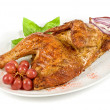 Half roasted chicken - Stock Photo