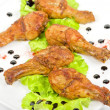 Chicken drumstick — Stock Photo