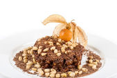 Chocolate risotto dessert — Stock Photo