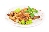 Smažené kuřecí filet maso — Stock fotografie