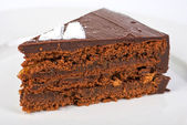 Tasty chocolate cake — Stock Photo
