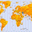 Timezone map — Vettoriale Stock #3142848