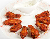 Chicken grilled wings — Stock Photo