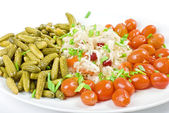 Marinated vegetables closeup — Stock Photo