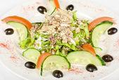 Salad of tuna fish — Stock Photo