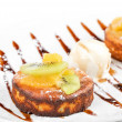 Foto Stock: Tasty dessert with ice cream