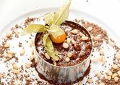 Chocolate risotto dessert — Stock Photo