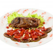 Beef steak with pomegranate - Stock Photo