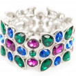 Bracelet with color gems — Stock Photo