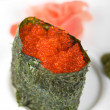 Red tobiko sushi — Stock Photo