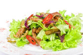 Salad of pork, courgette, lime — Stock Photo