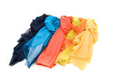Color shawls — Stock Photo