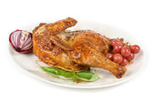 Half grilled chicken — Stock Photo
