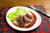 Pečené maso v jiří — Stock fotografie