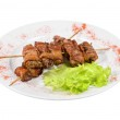 Kebab from chicken liver — Stock Photo