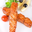 Royalty-Free Stock Photo: Salmon kebab