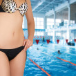At swimming pool — Stock Photo
