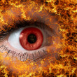 Red look on fire — Stock Photo