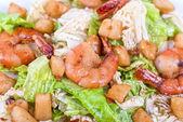 Shrimp tiger salad — Stock Photo