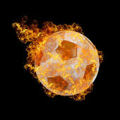 Fire soccer ball — Stock Photo